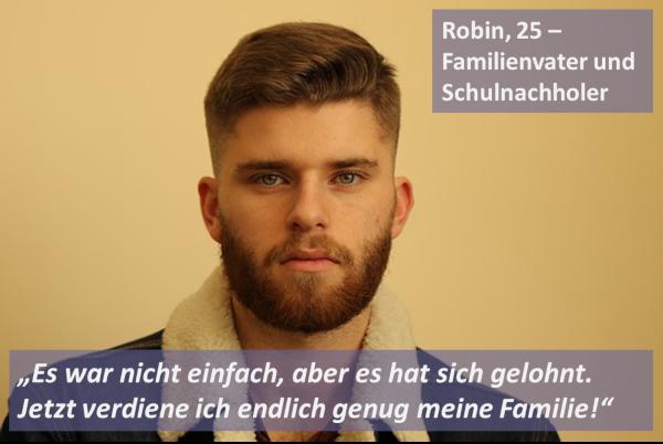 Bild: Robin, Schulnachholer im Fernstudium