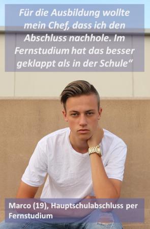 Marco, Hauptschul-Nachholer
